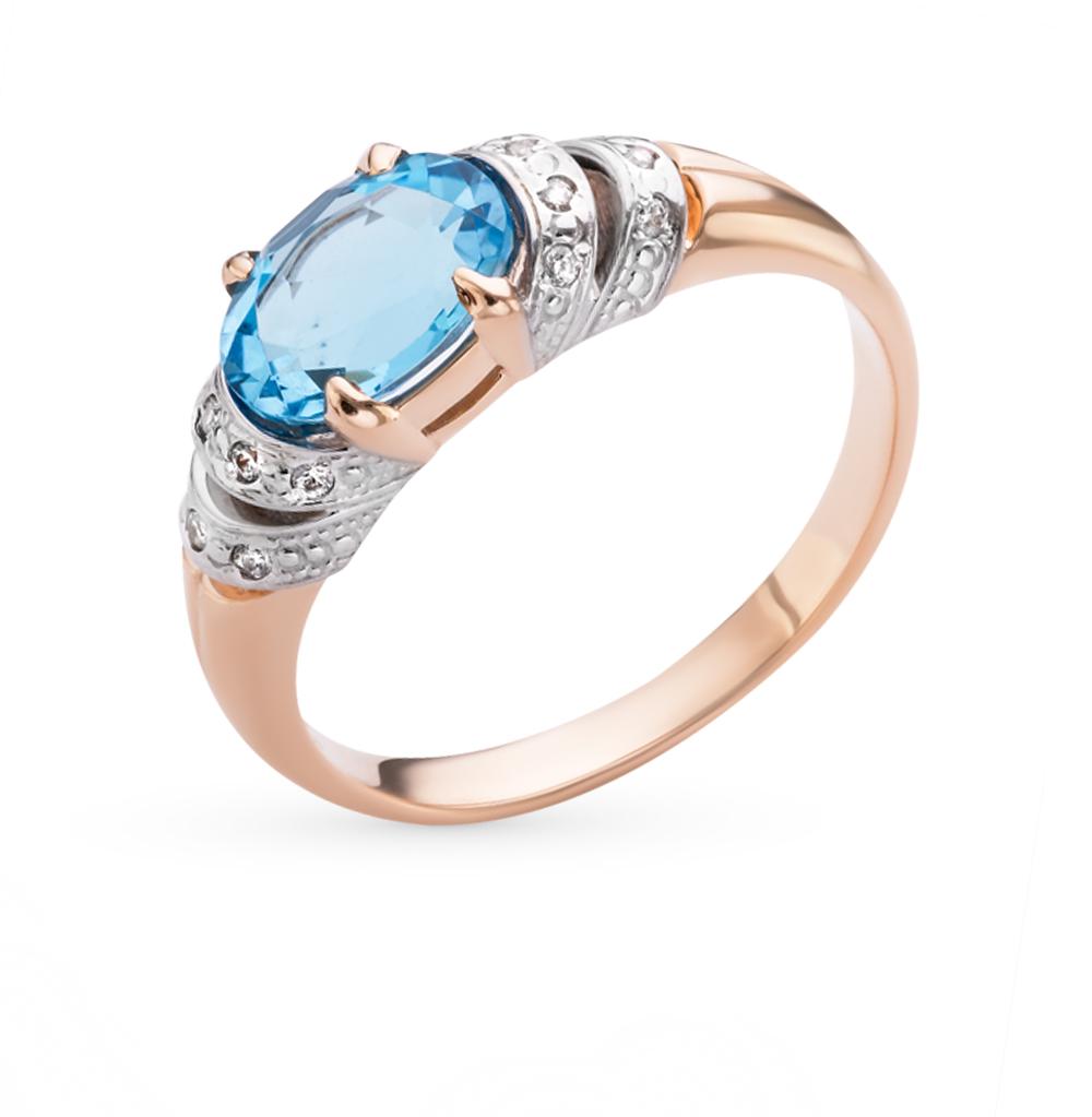 Фото «золотое кольцо с бриллиантами, топазами, фианитами и изумрудами»