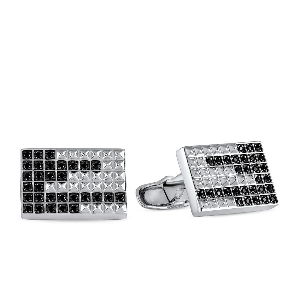 Фото «запонки из серебра с фианитом»