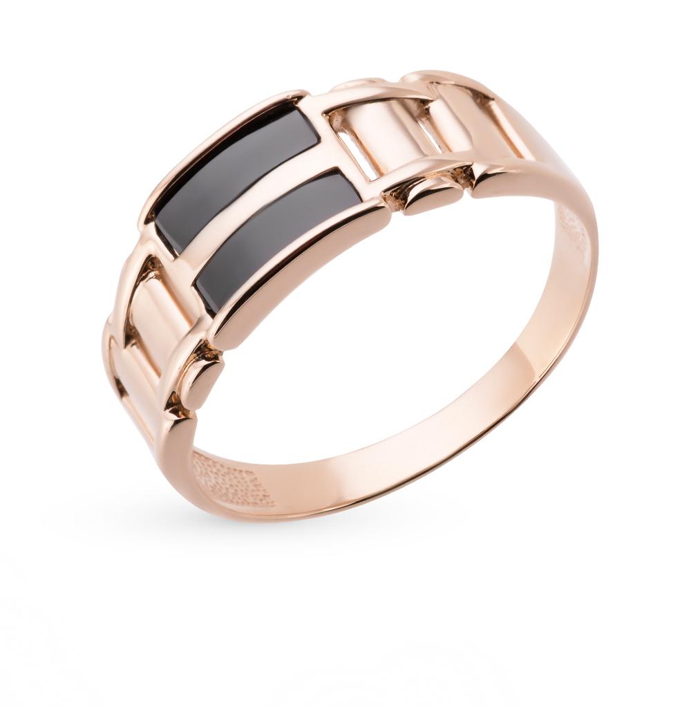 Фото «золотое кольцо с бриллиантами, фианитами и ониксом»