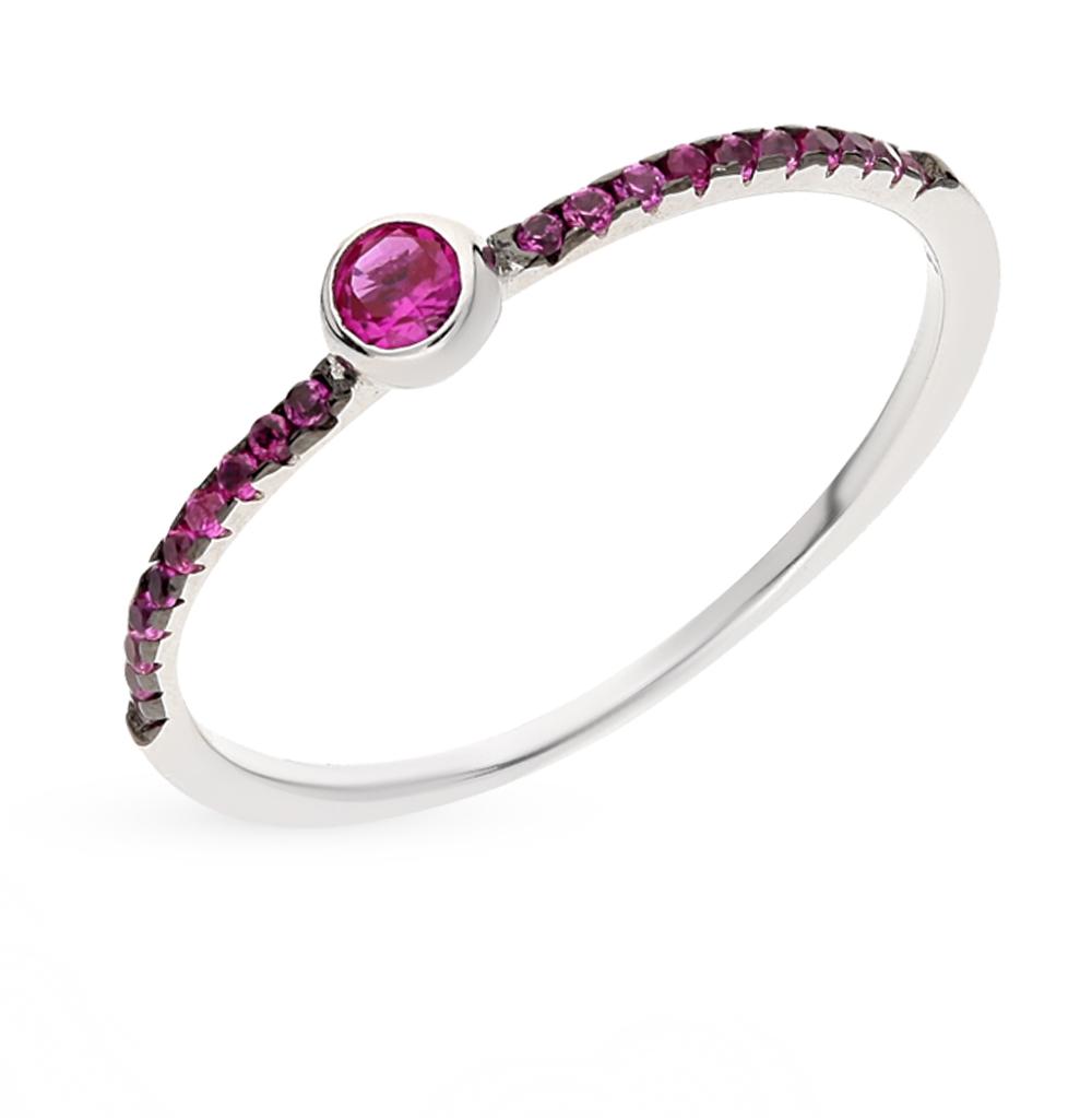 Фото «серебряное кольцо с сапфирами синтетическими»