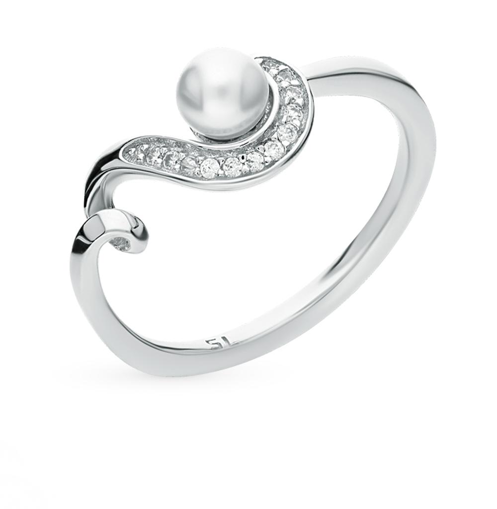 Фото «кольцо с жемчугом имитациями и фианитами»