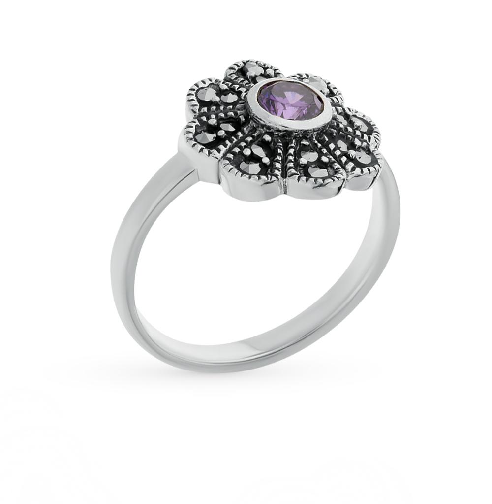 Фото «серебряное кольцо с фианитами и марказитами»