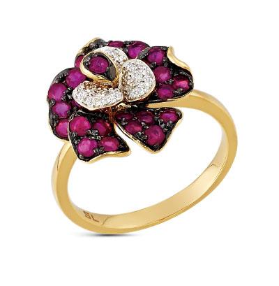 Фото «кольцо с бриллиантами и рубинами»