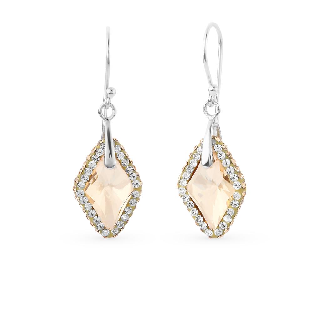 Фото «серебряные серьги с алпанитами и кристаллами swarovski»