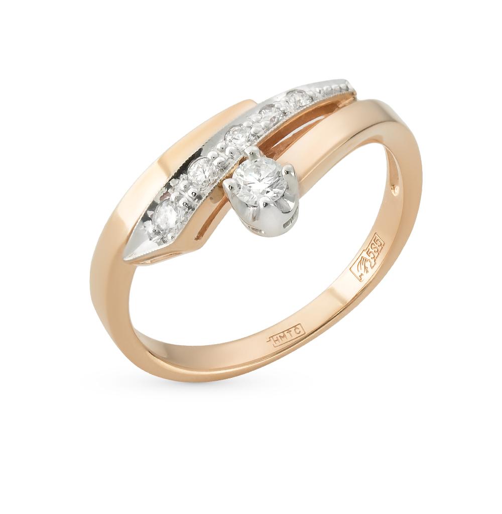 золотое кольцо с бриллиантами SUNLIGHT