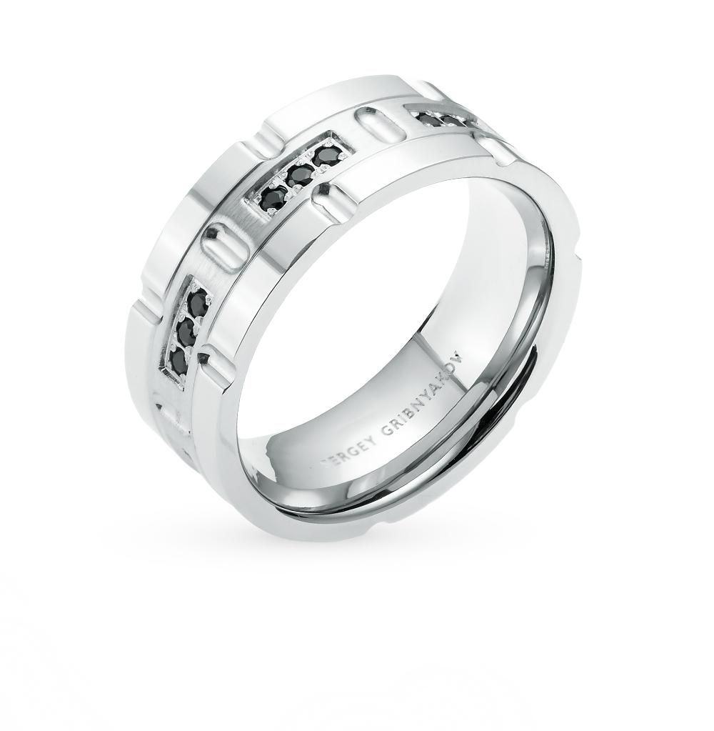 Фото «кольцо из стали с со сталью и фианитами»