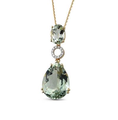 Фото «золотая подвеска с бриллиантами и аметистами»