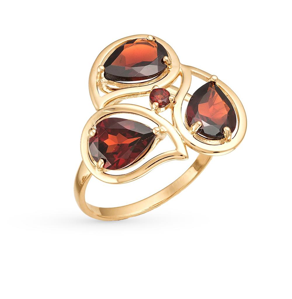 Фото «золото кольцо с гранатами»