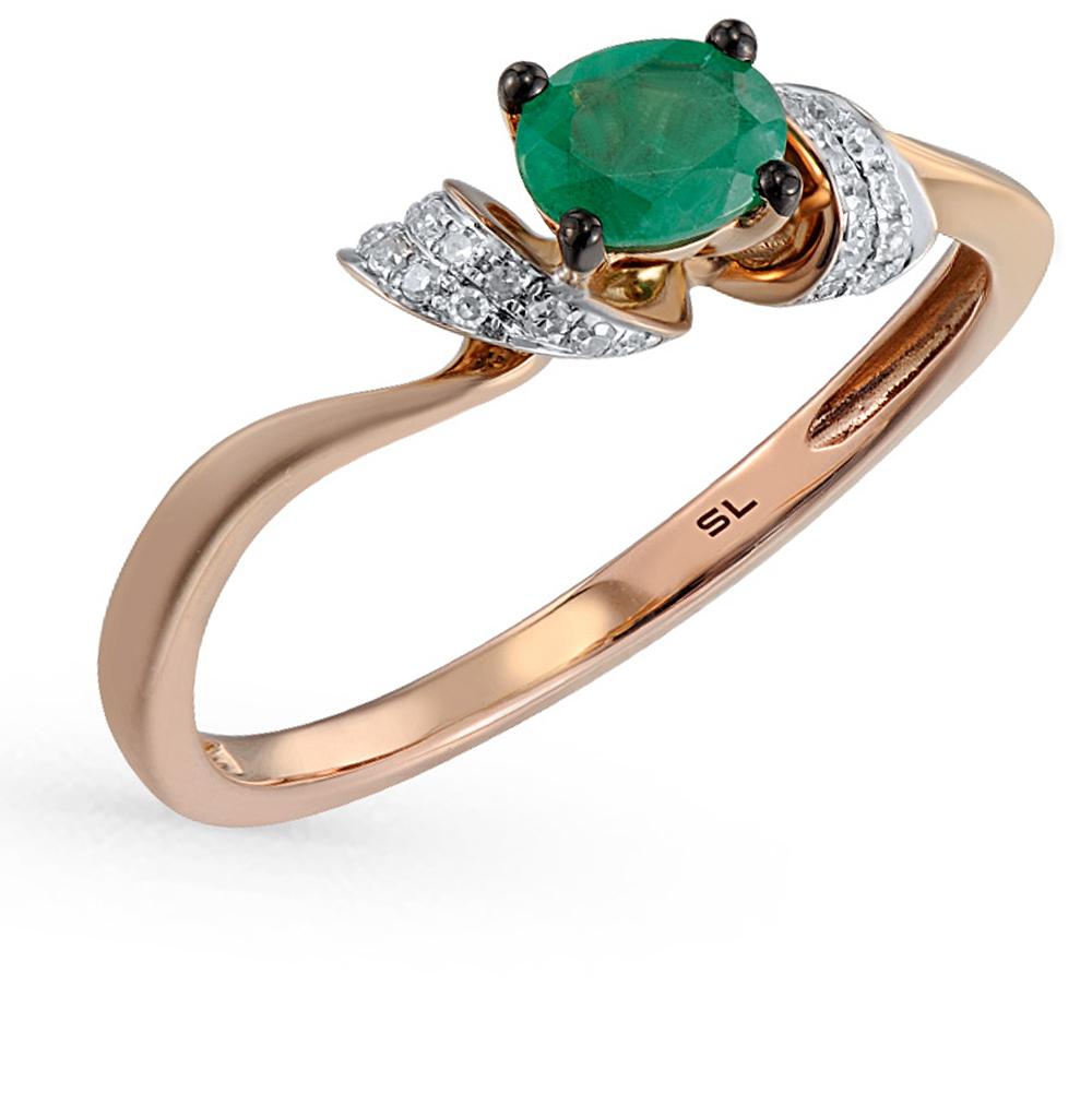 Фото «золотое кольцо с бриллиантами, топазами и фианитами»