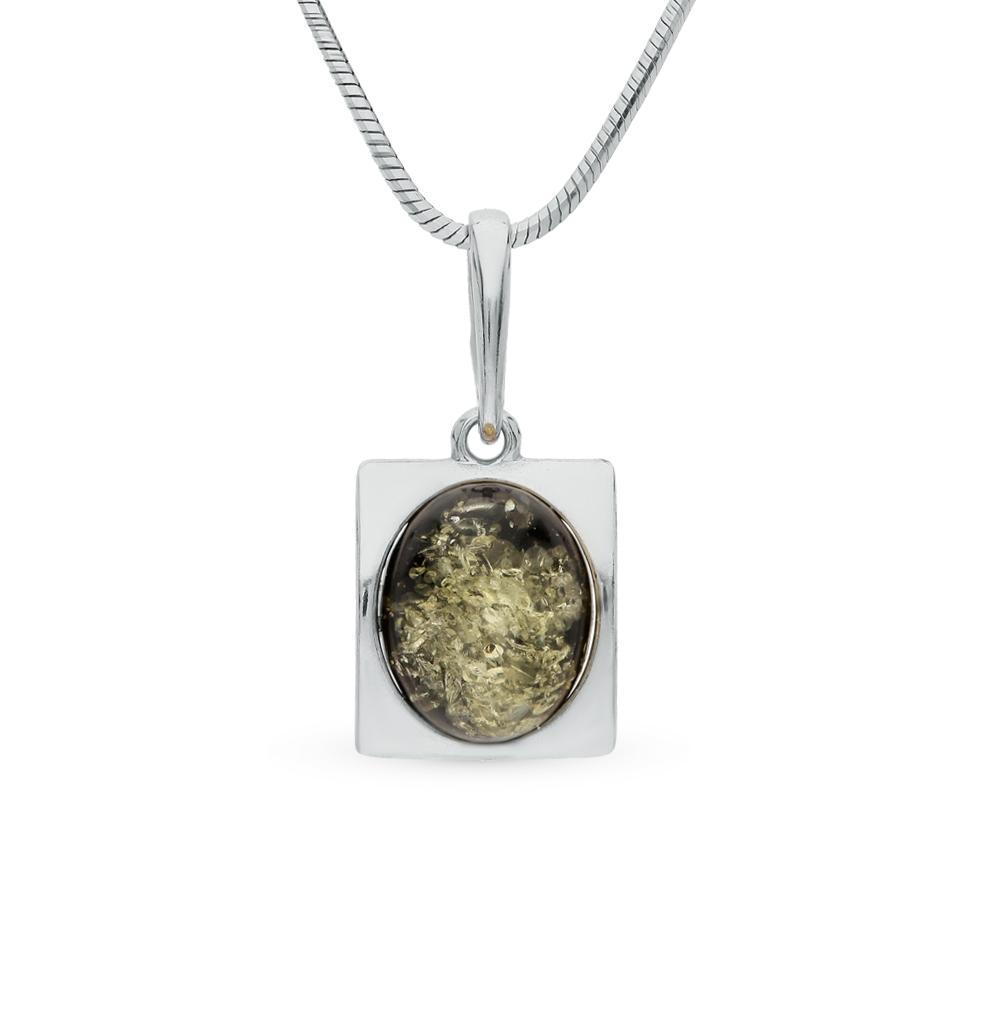 Фото «серебряная подвеска с янтарями»