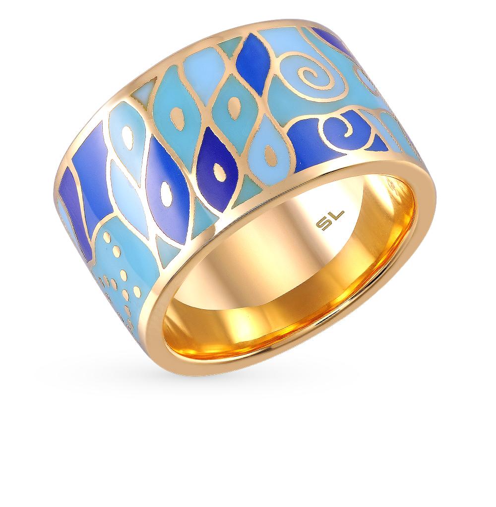 Фото «золотое кольцо с бриллиантами, эмалью и сапфирами»