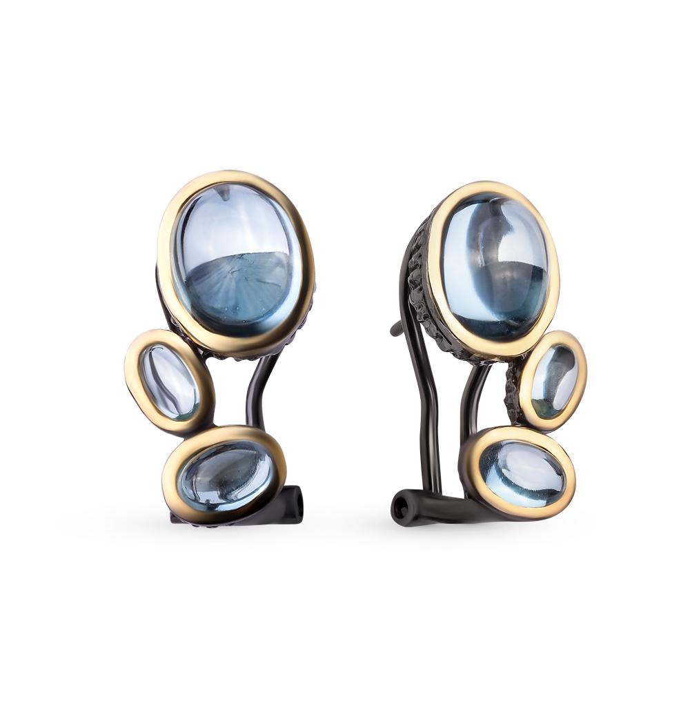 Фото «серебряные серьги с топазами»