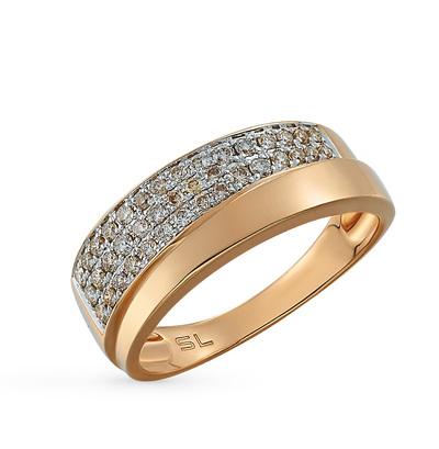 Фото «золотое кольцо с бриллиантами, фианитами, изумрудами и ониксом»