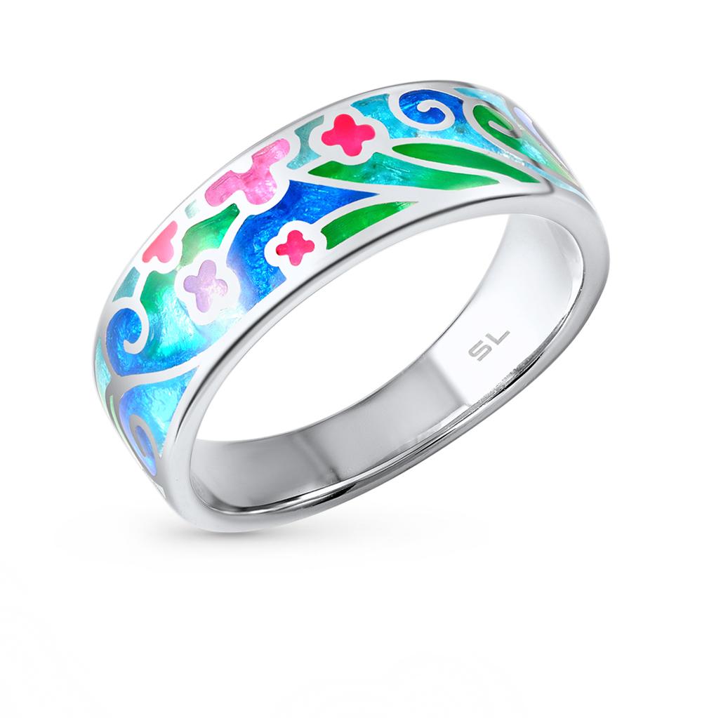 Фото «серебряное кольцо с витражными эмалями»
