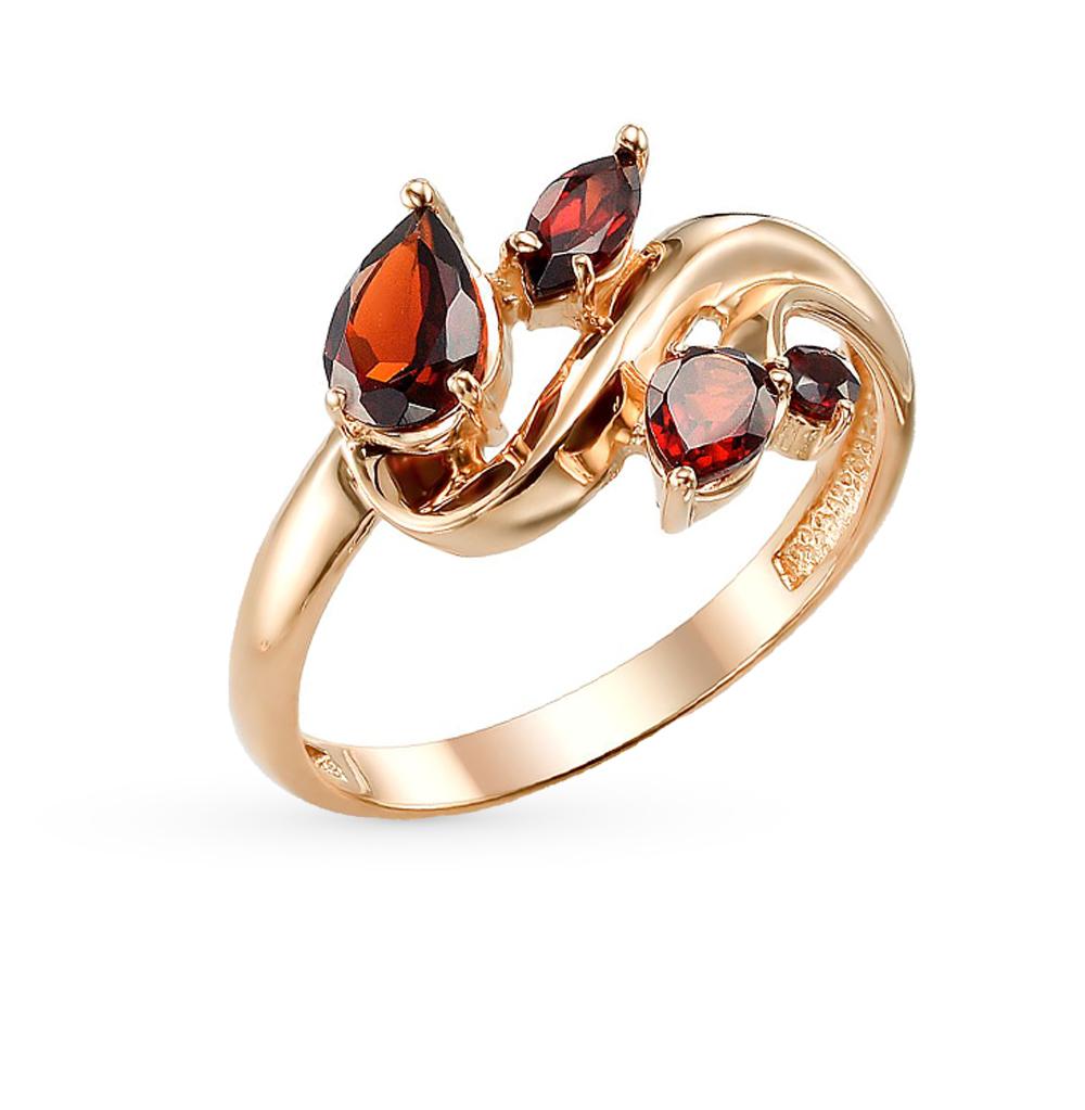 Фото «золотое кольцо с гранатом»